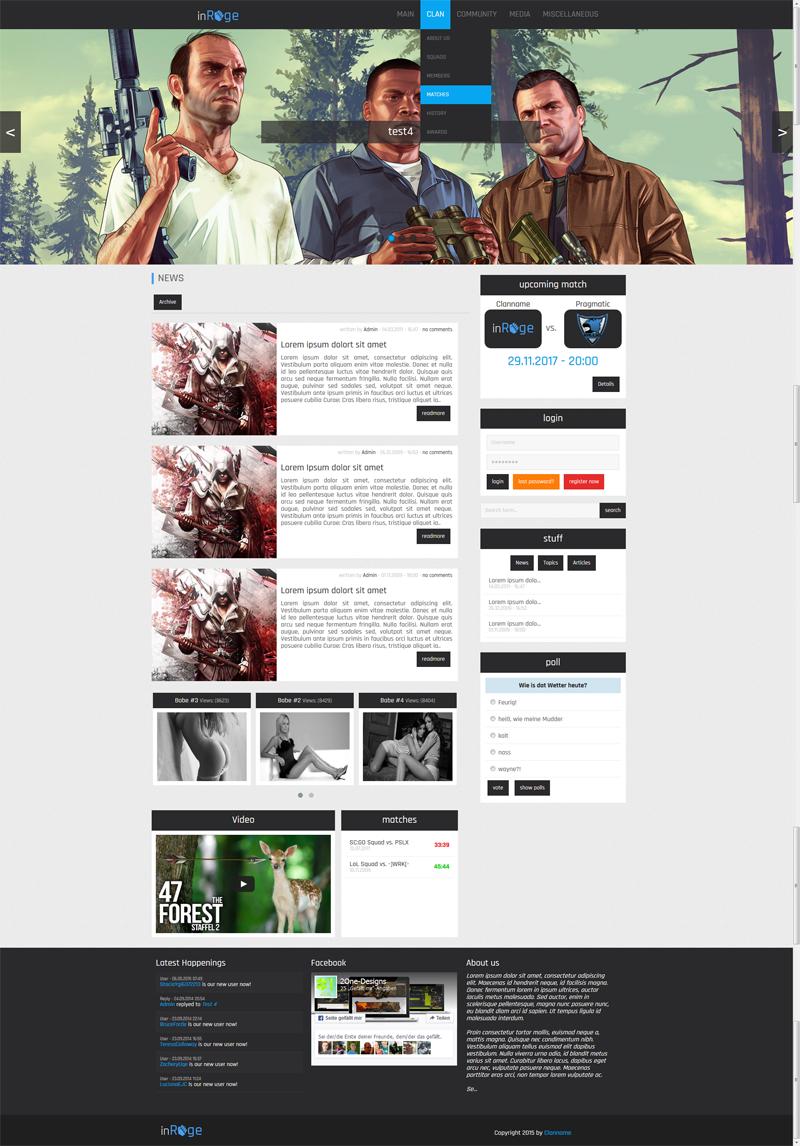One Designs de   Webspell Templates  Addons  Coding und mehr    News  Template